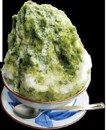 抹茶ミルクかき氷 ¥500